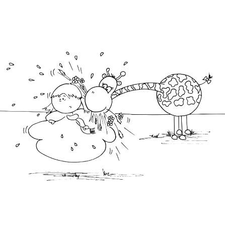 Malvorlagen: Die kleine Wolke